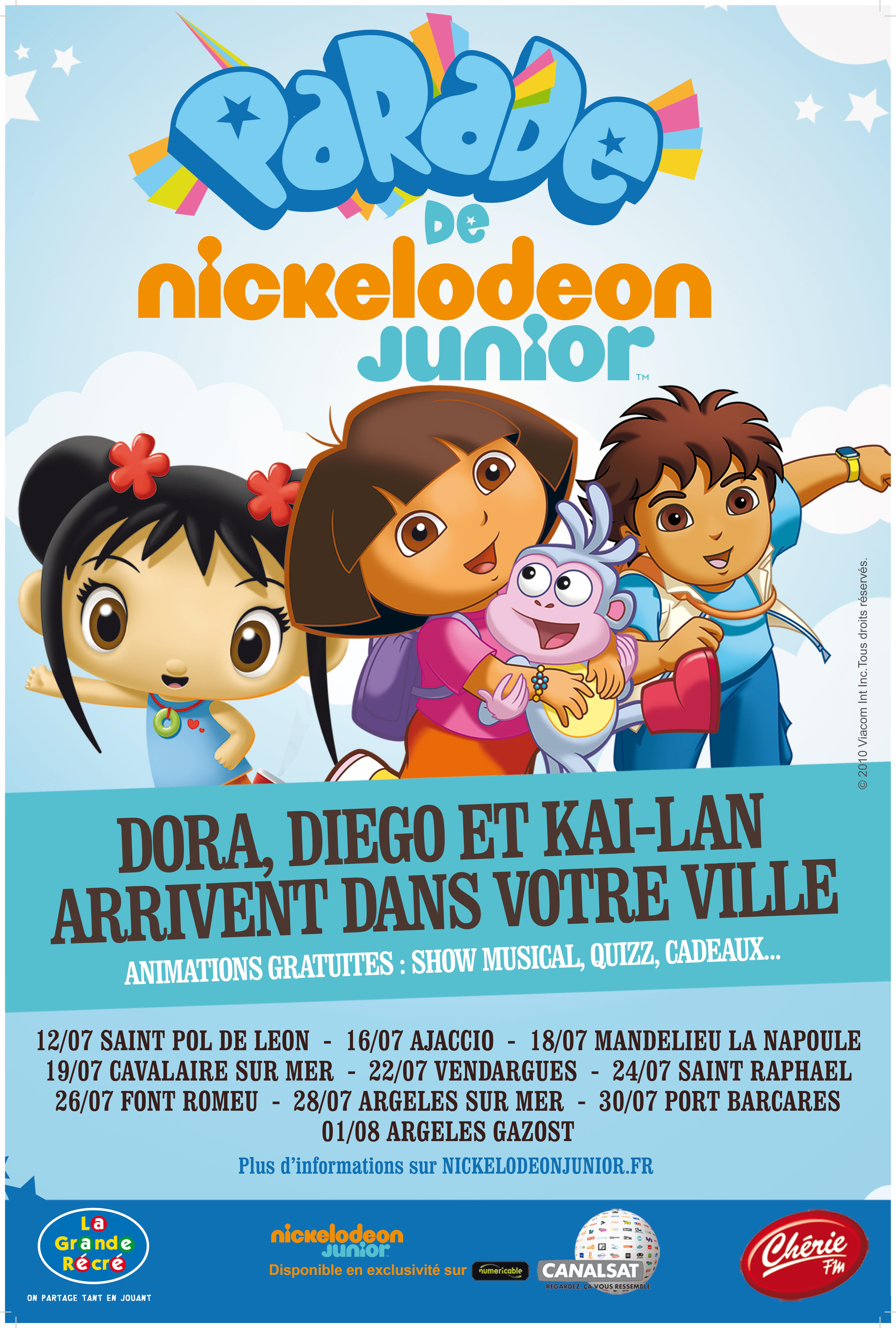 Tournée des plages des héros de TiJi, Canal J, Gulli, Nickelodeon Junior et TFou