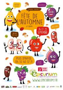 Affiche Fête de l'Automne 2016 à l'Epicurium