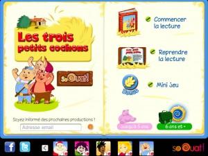 Les 3 petits cochons sur iPad et iPhone