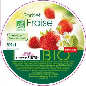 Sorbet fraise bio Thiriet