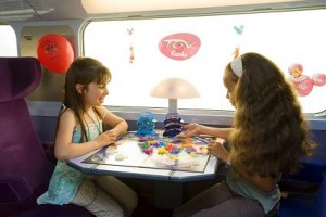 voyager avec des enfants en train