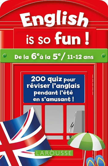 Jeux de voyage - Jeu de cartes quiz English is so fun !, Larousse