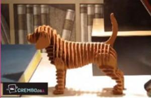 chien en carton crembo