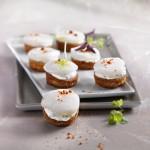 Recette au fromage : Sablés apéritifs aux Saint-Jacques et Saint-Môret