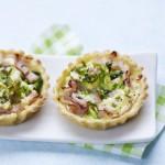 Mini-tartelettes aux courgettes et au blanc de dinde rôti Aoste