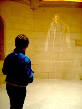 Vidéoprojection au château de Falaise