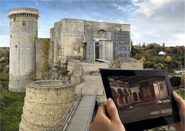 visite du chateau de Falaise avec tablette