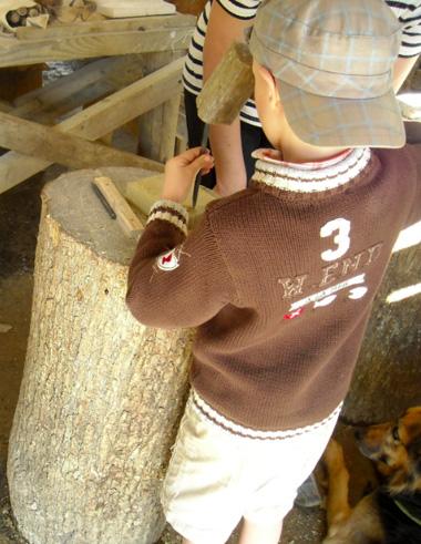 Atelier taille avec enfant