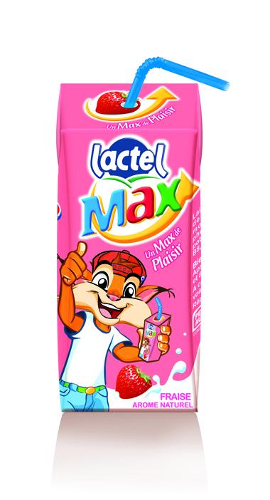 Lactel Max Briquette fraise