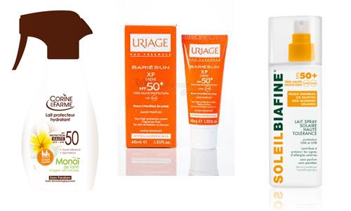 crèmes solaires haute protection