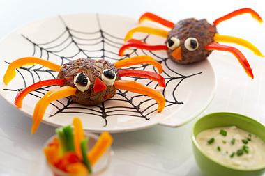 steack araignée Halloween