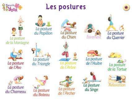 yoga pour enfants postures
