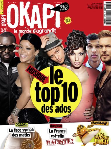 Couv OKAPI spécial top 10 musique