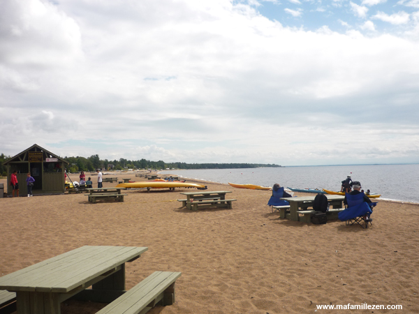 PNR de la Pointe-Taillon - La plage aménagée sur le lac Saint-Jean