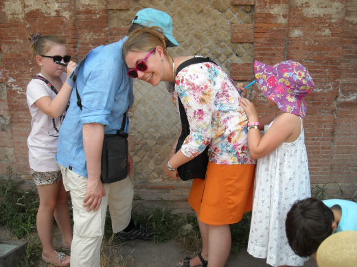 Famille à Ostia