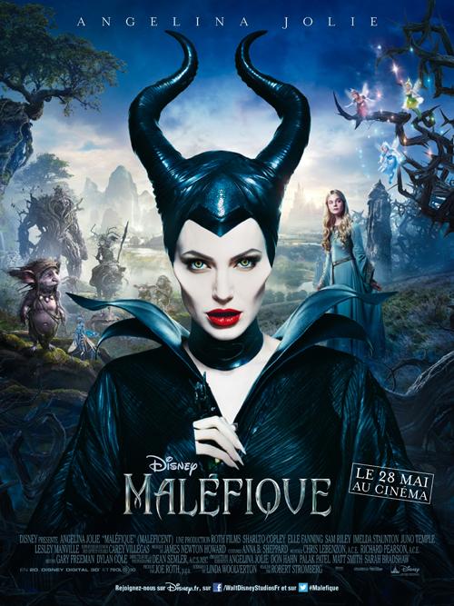 Affiche Maléfique de Disney avec Angelina Jolie