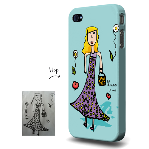 Coque Iphone Madame Pop And Kids