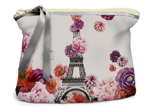 Trousse tour Eiffel fleur