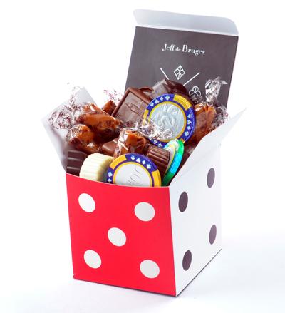 Coffret Cube de chocolats Jeff de Bruges