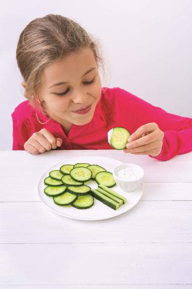 Faire manger des légumes aux enfants : <br>arbres de concombre
