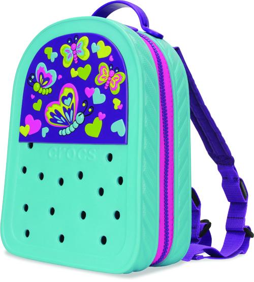 CrocsLights_Backpack_Butterfly--Aqua-Neon_Purple