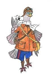 gaston le pigeon au Fort de Vaux