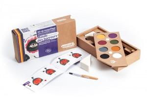 kit de maquillage bio Namaki 8 couleurs Monde des horreurs - contenu BD