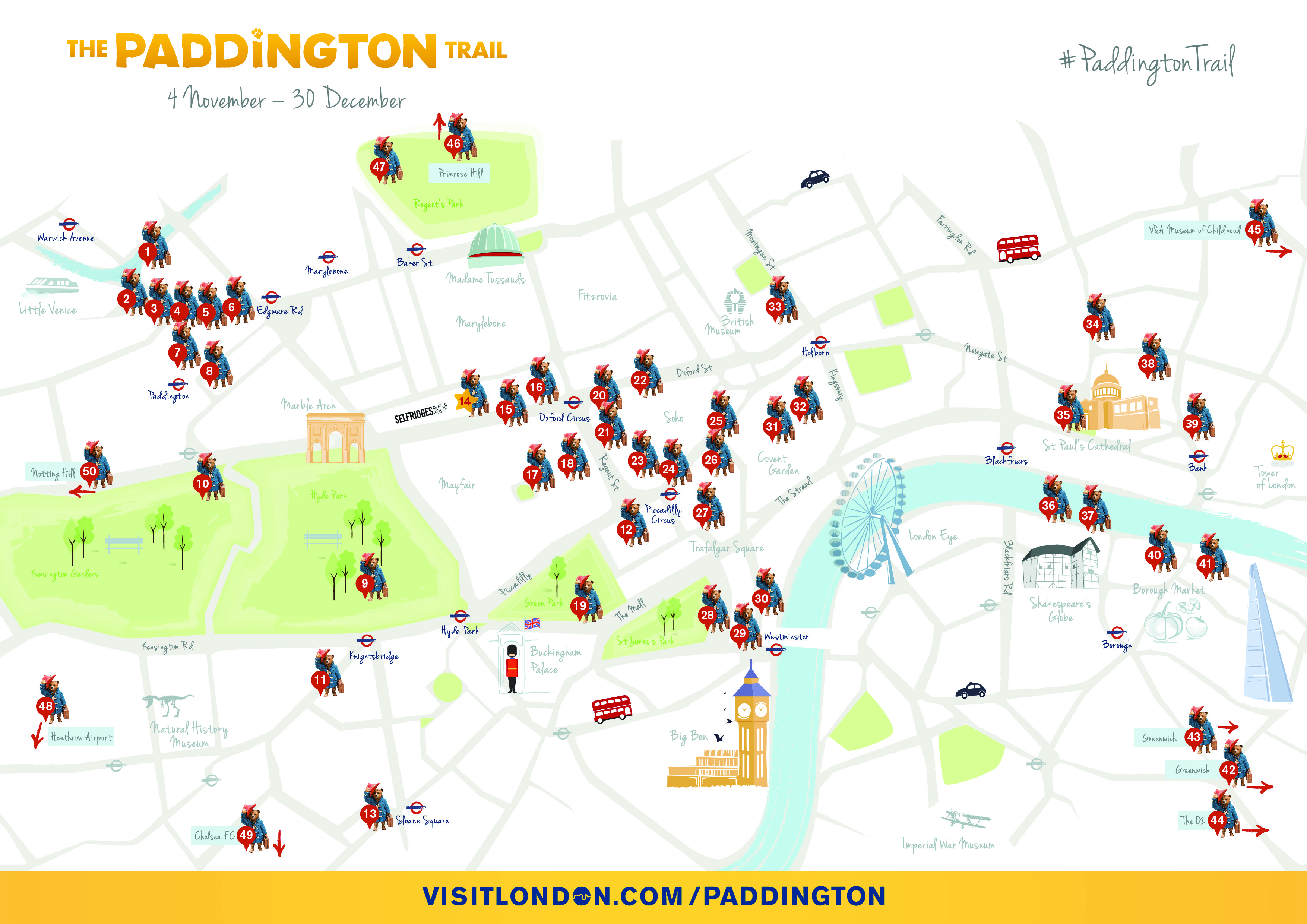 Carte Du Paddington Trail Jusquau 31 Decembre 2014