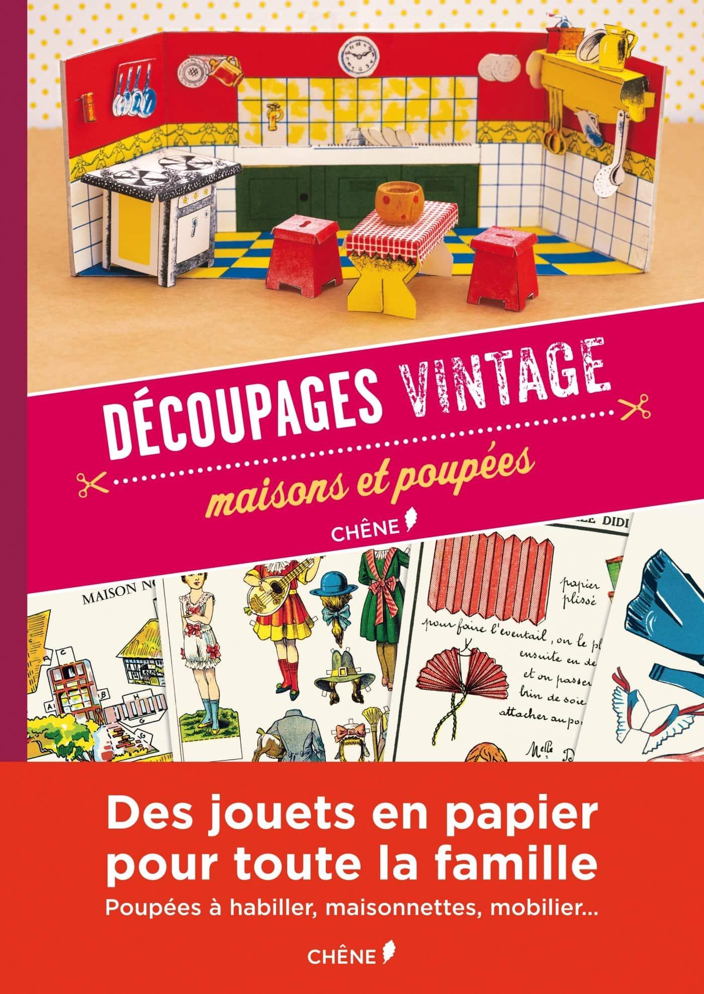 découpages vintages jouets en papier