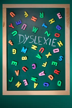 Dyslexie écrit sur tableau noir