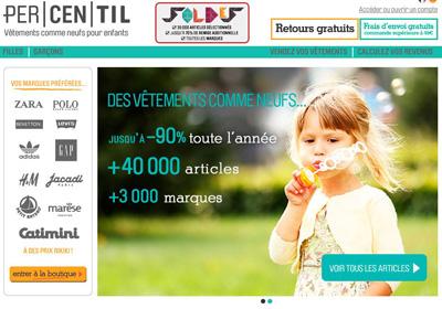 Percentil.fr, site de vente de vêtements d'occasion pour enfants