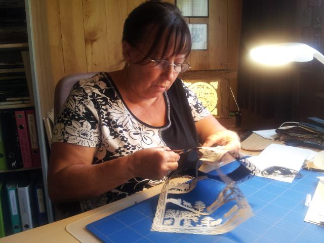 l'art du découpage avec Béatrice Straubhaar