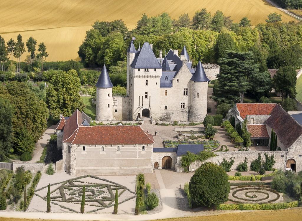 Chateau du Rivau vue aerienne