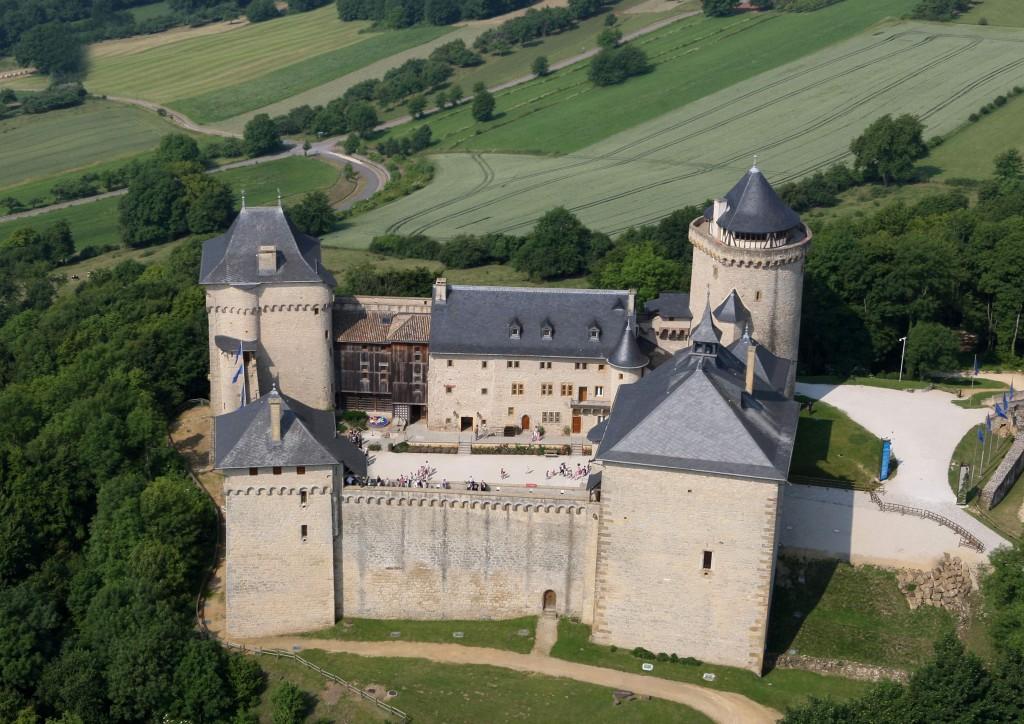 Vue aérienne du Château de Malbrouck