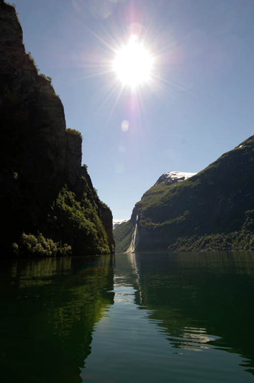 Vue du fjord Geiranger