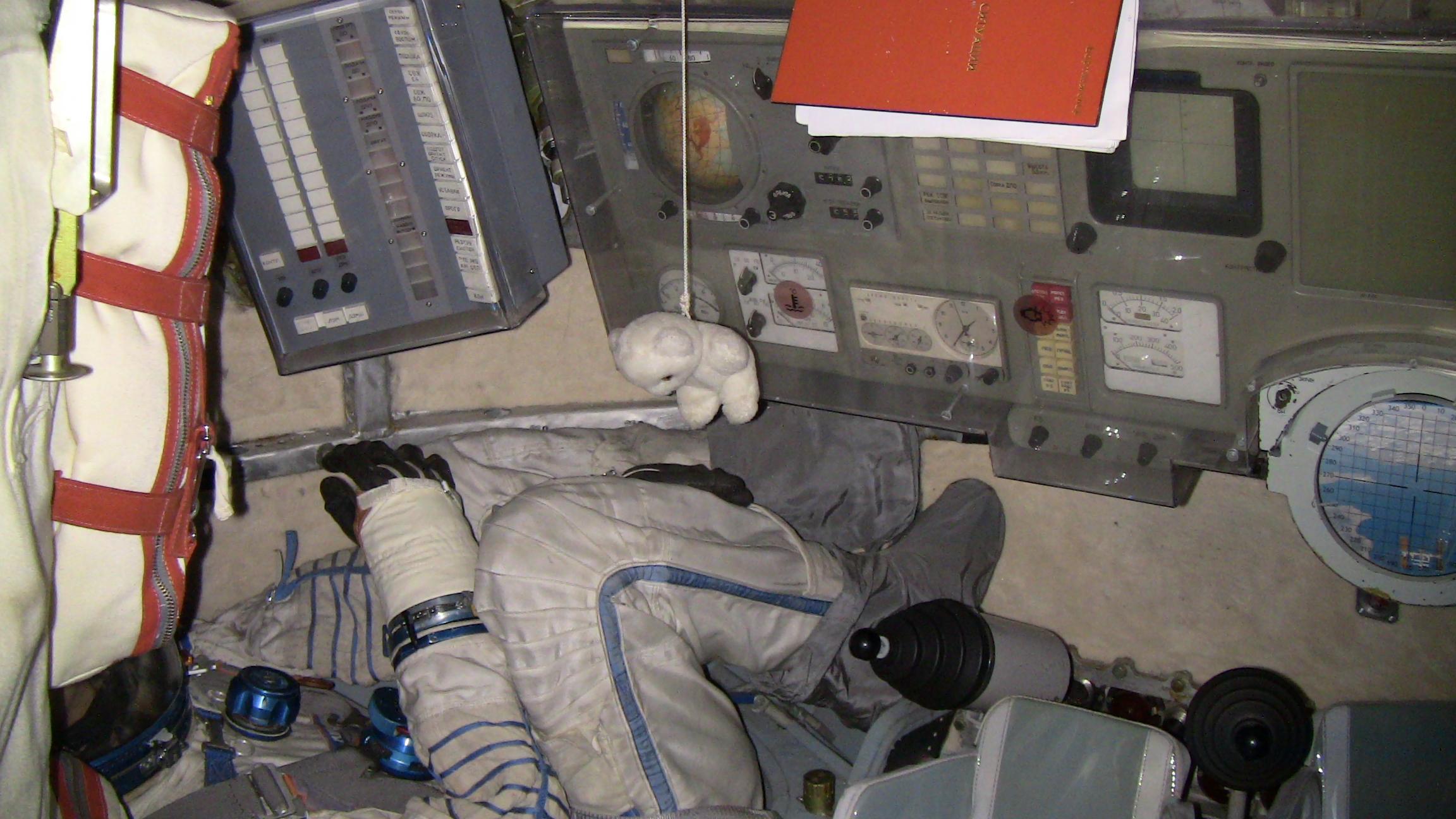 Cité de l'espace de Toulouse. Intérieur de la capsule Soyouz.