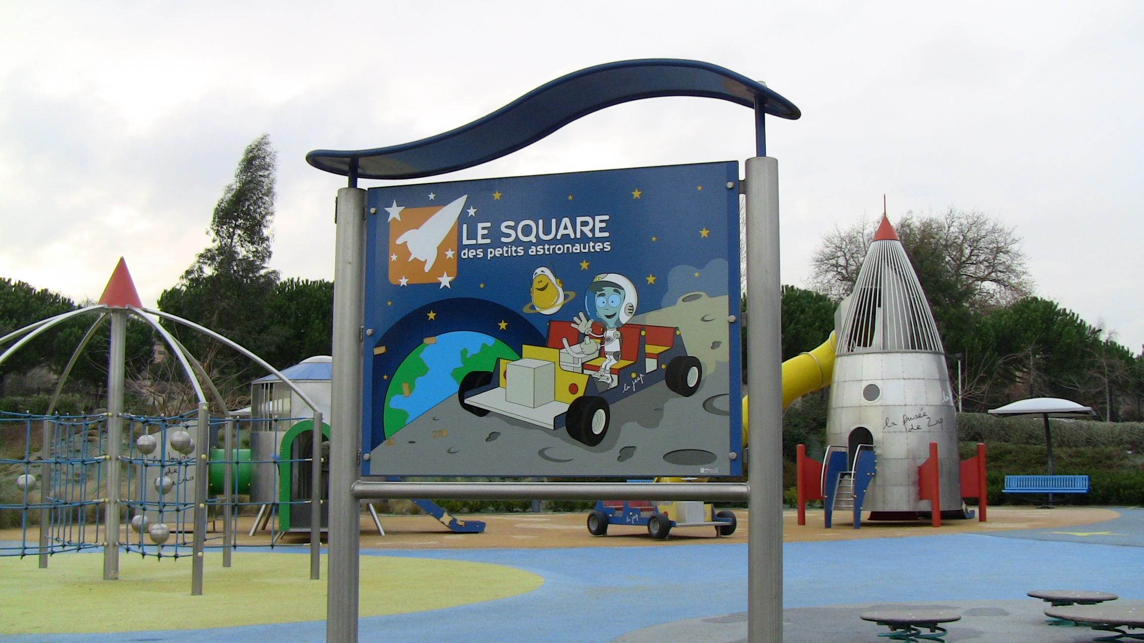 Cité de l'espace de Toulouse. Le Square des petits astronautes.