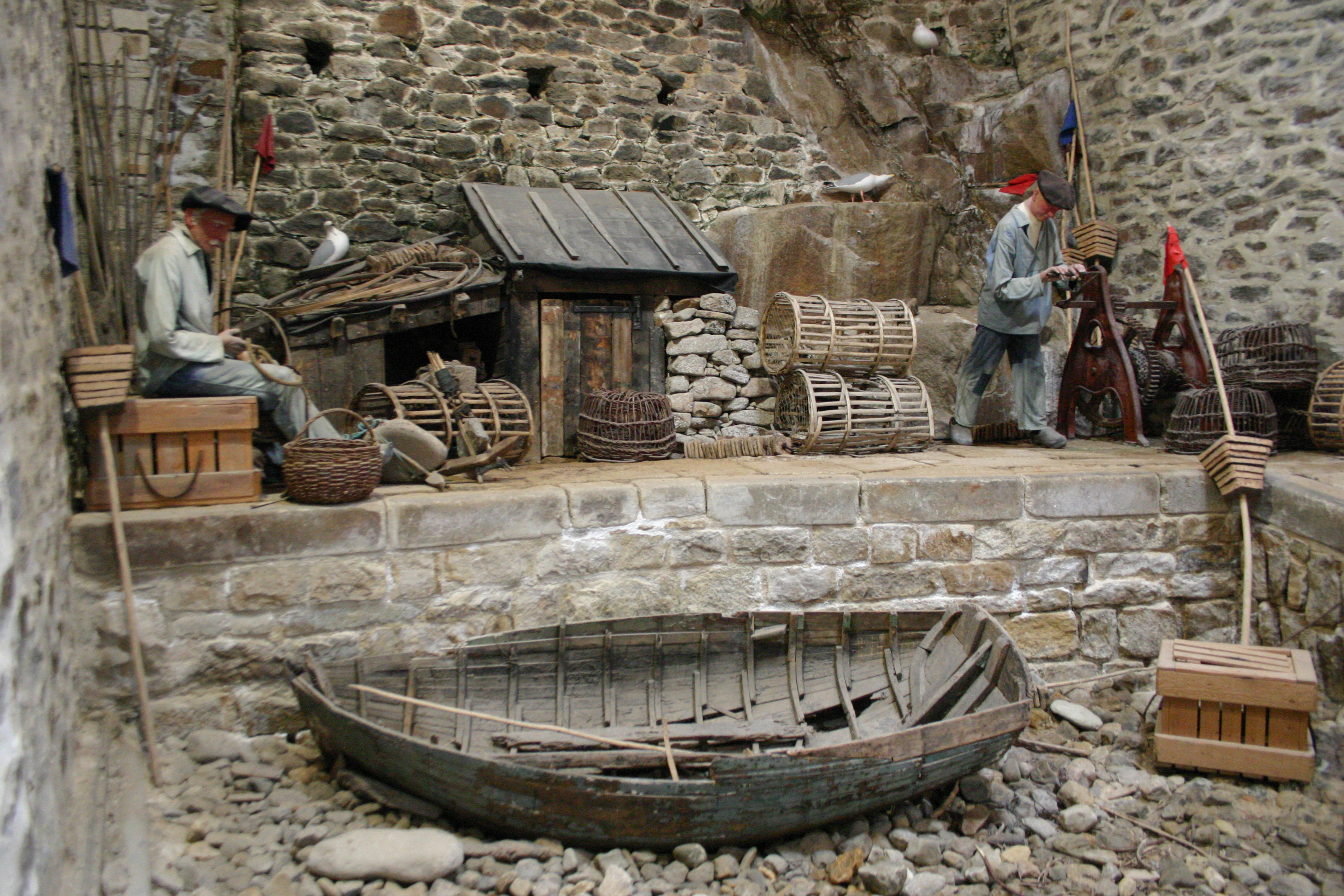 Reconstitution d'un port de pêche traditionnel