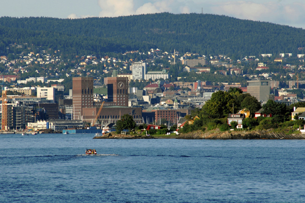 vue sur Oslo depuis le fjord