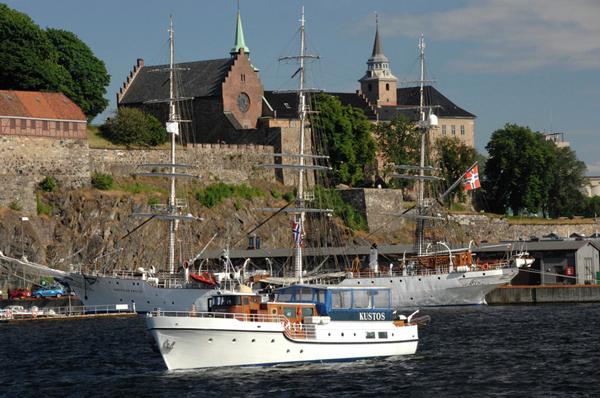 Voilier sur le fjord Oslo