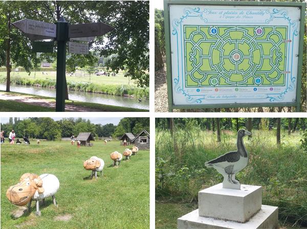 Jeux pour enfants dans le parc du château de Chantilly