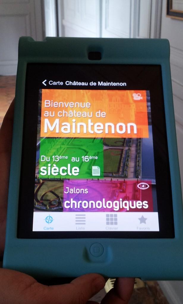 tablettes pour visiter le château de Maintenon