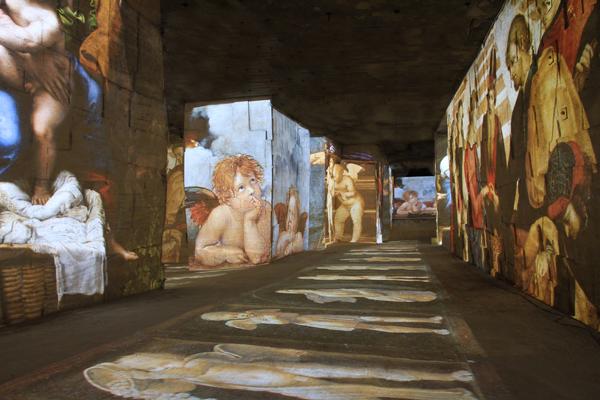 Spectacle des Carrieres de Lumieres 2015 Michel-Ange_Leonard de Vinci_ Raphael_Les Geants de la Renaissance_copyright G_Iannuzzi_M_ Siccardi_G_Napoleoni_Culturespaces_3