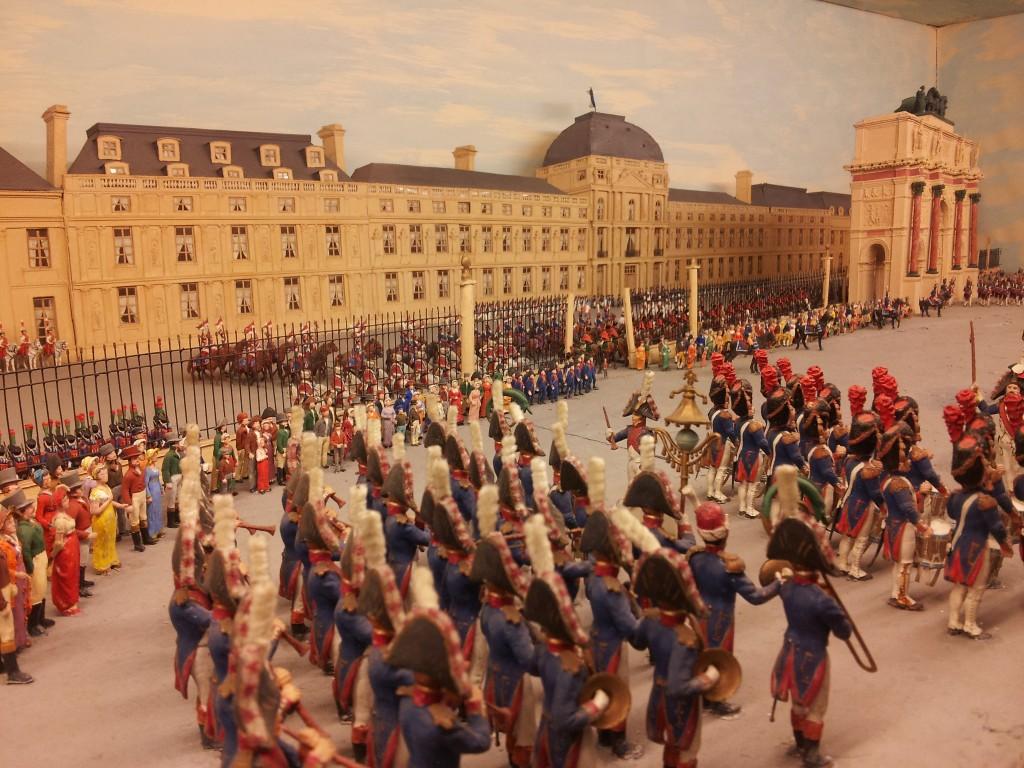 vitrine parade aux Tuileries musee de la figurine de Compiegnel