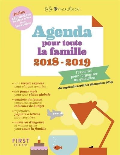 agenda familial 2018-2019