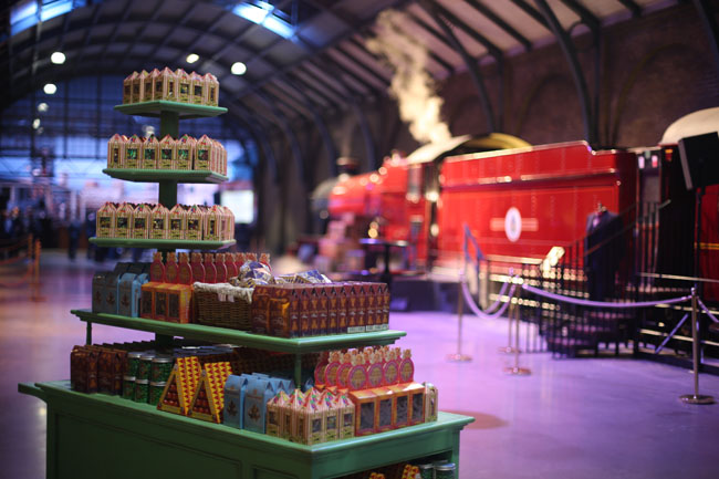 chariot de confiseries au Warner Bros. Studio Harry Potter