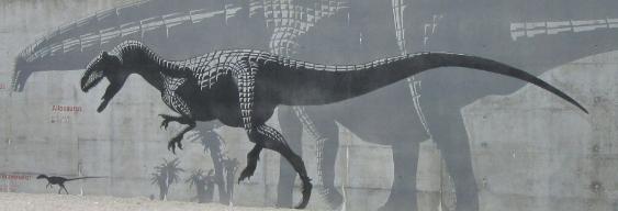 Dinosaure au Musée Jurassica