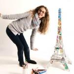 Une Tour Eiffel en carton à colorier et à construire