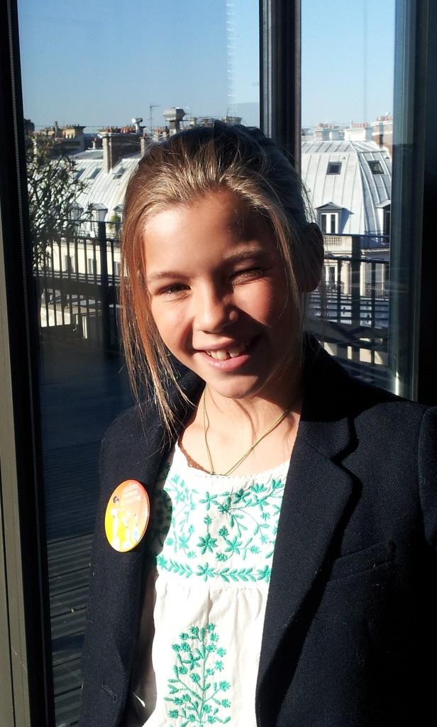 eve, gagnante des Petit Champions de la lecture 2015