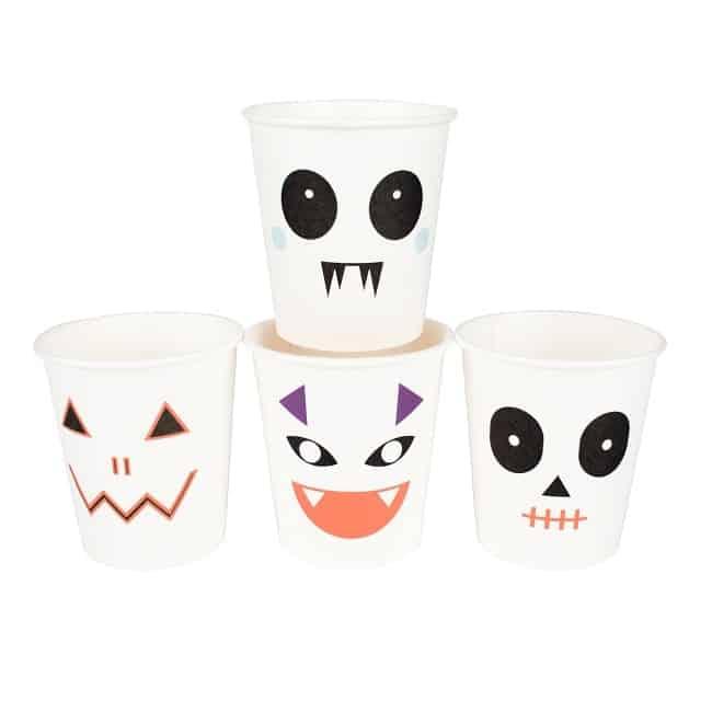 vaisselle en carton halloween